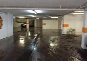 Tiefgarage überflutet